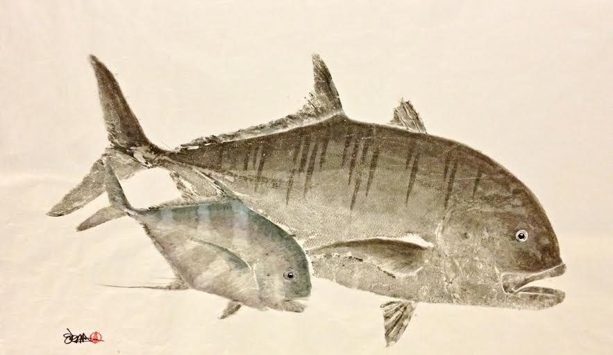 Sakana Gyotaku Fish Prints