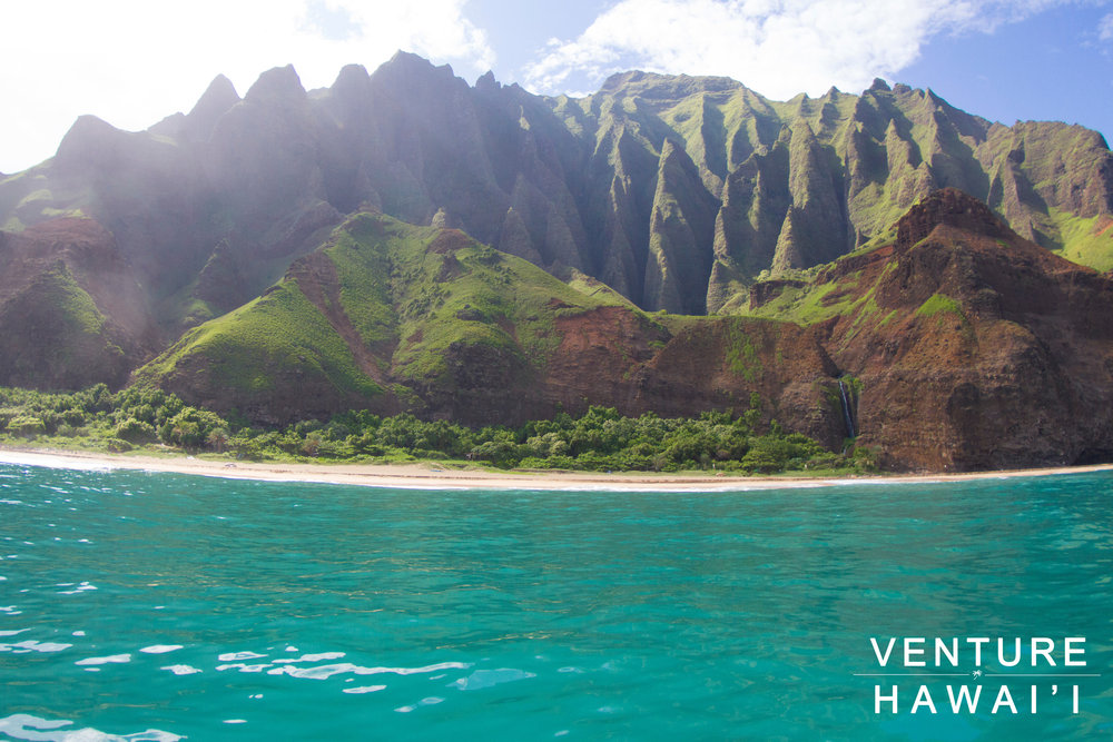 Na Pali Coast Tour  - On Labor day we decided to jump aboard Any Kine Charters to tour around the Na Pali Coast of Kaua'i.
