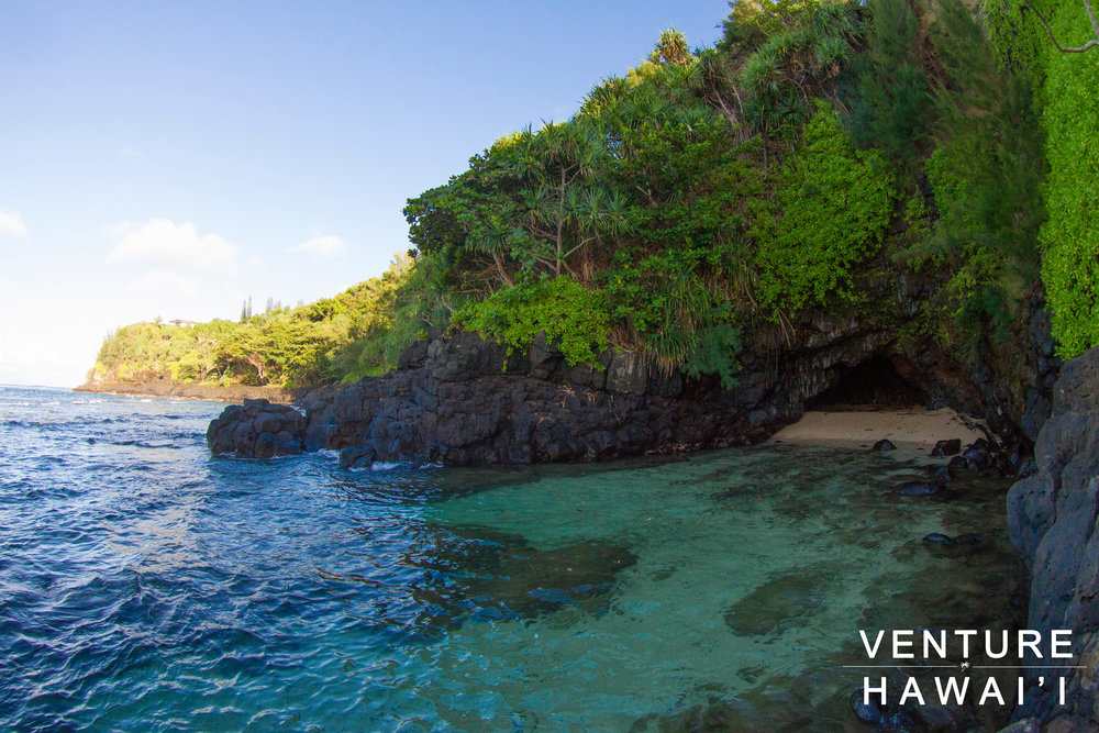 Turtle Cove Beach - Such a beautiful remote cove in Kaua'i.