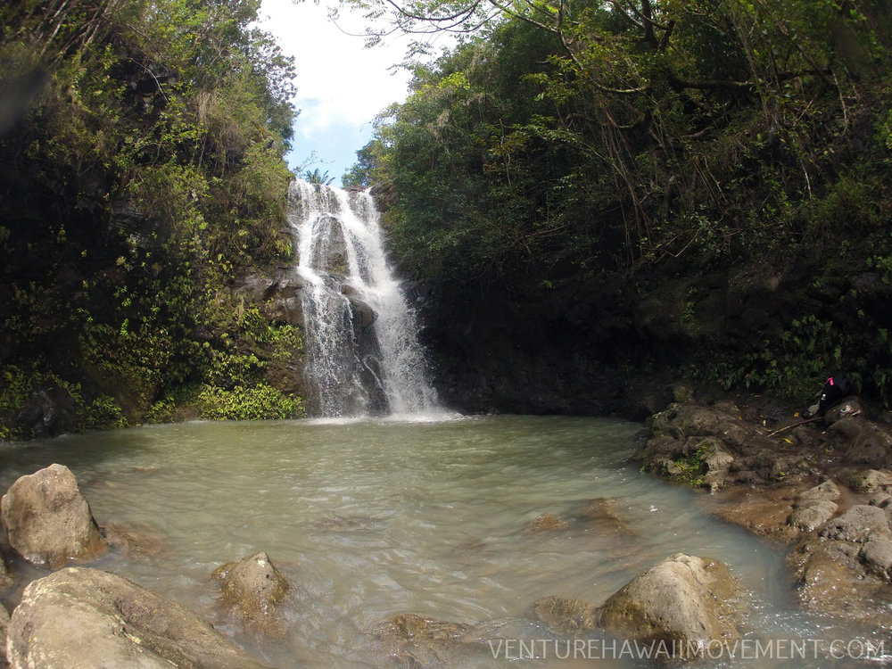 Waimano Falls - Manana Trail to Waimano Waterfall on Oahu, Hawai'i.
