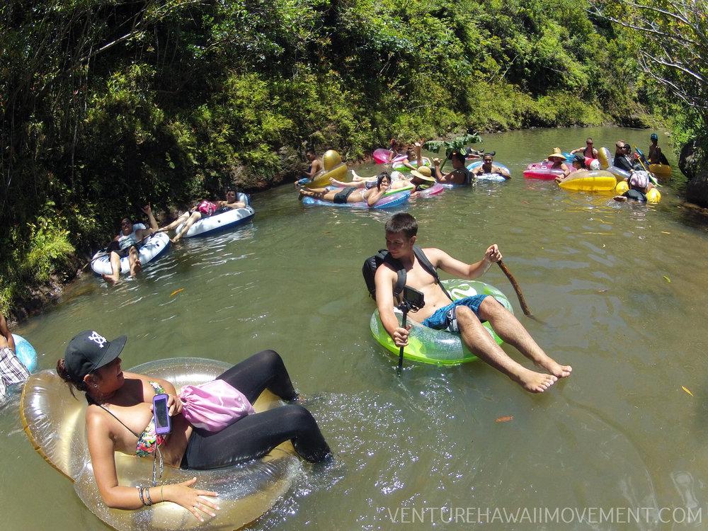 Tubing - Tubing down Kaukonahua Stream in Wahiawa on Oahu, Hawai'i.
