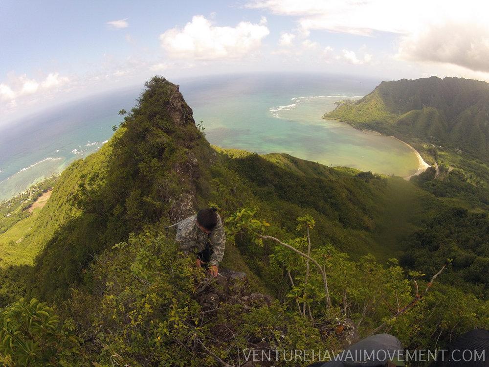 Pu'u Piei Makai Hike  - Pu'u Piei Makai hike on Oahu, Hawai'i in Kahana.