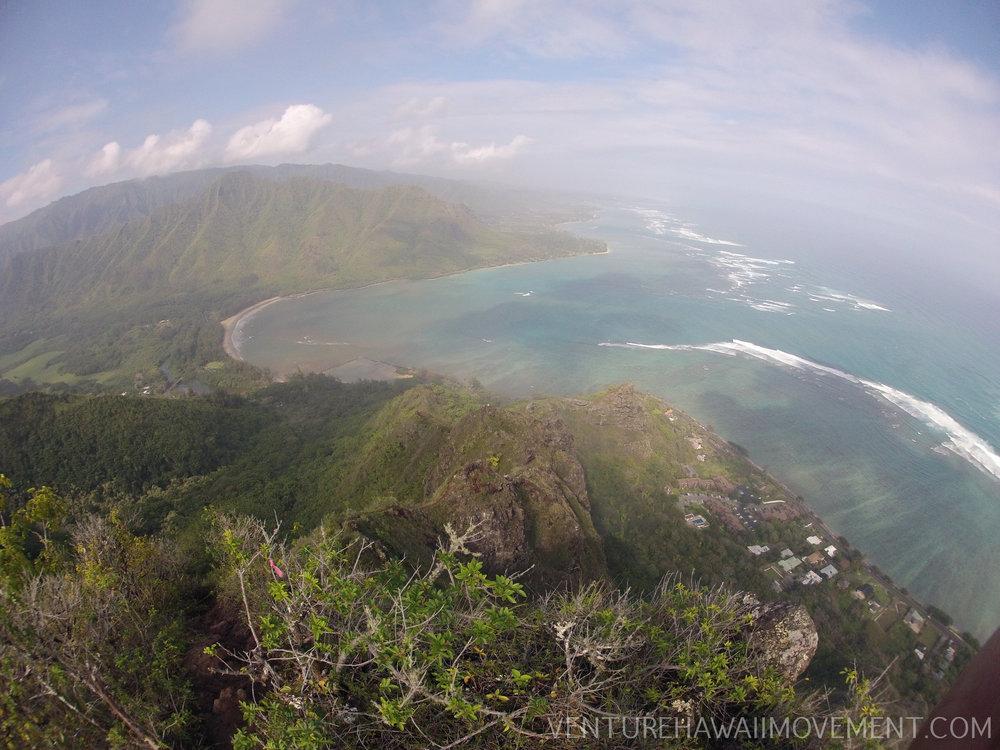 Pu'u Manamanahike - Pu'u Manamana hike on Oahu, Hawai'i.