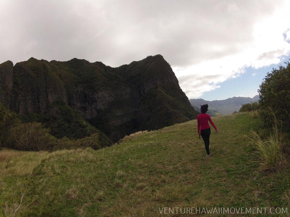 Pu'u Hapapa - Kolekole Pass to Pu'u Hapapa hike on Oahu, Hawai'i.
