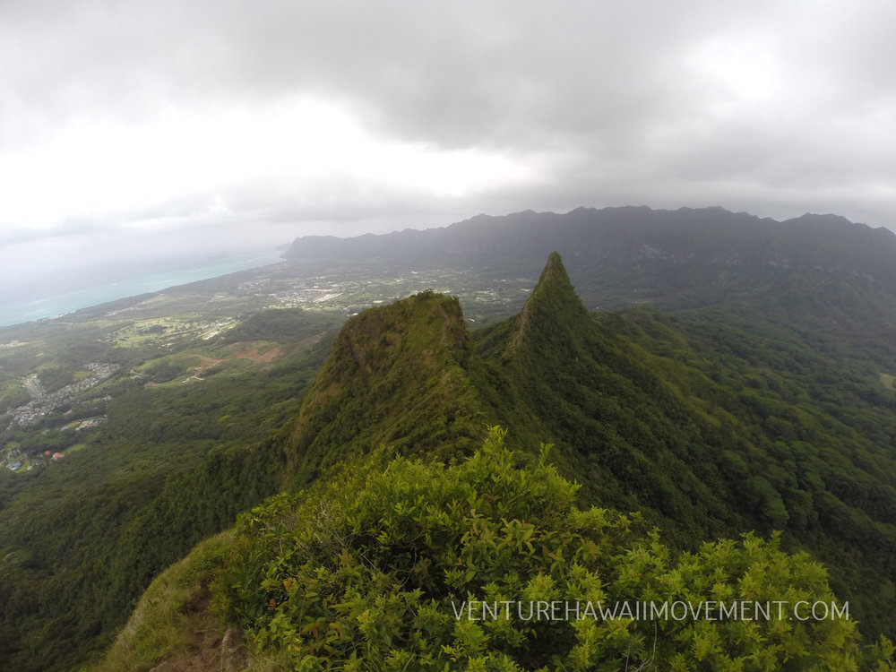 Olomana  - Spooky day on Mount Olomana.