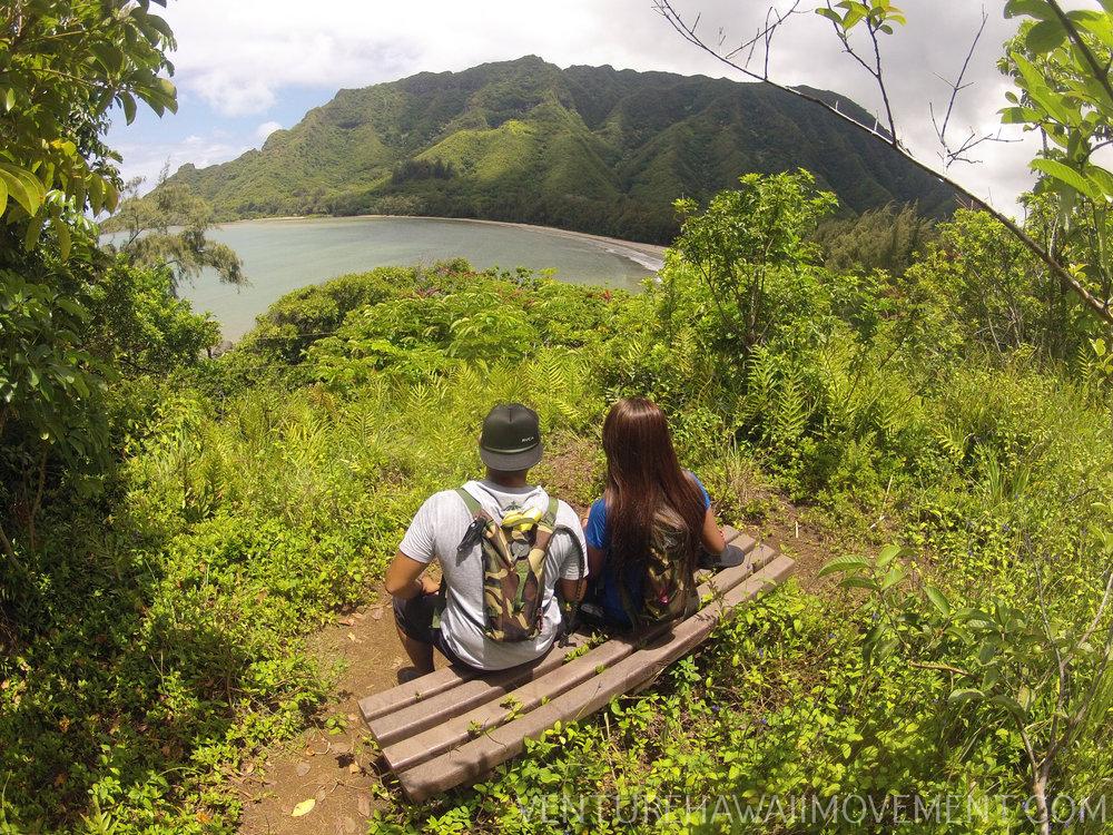Kapa'ele'ele Trail - Kapa'ele'ele Trail in Kahana of Oahu, Hawai'i.