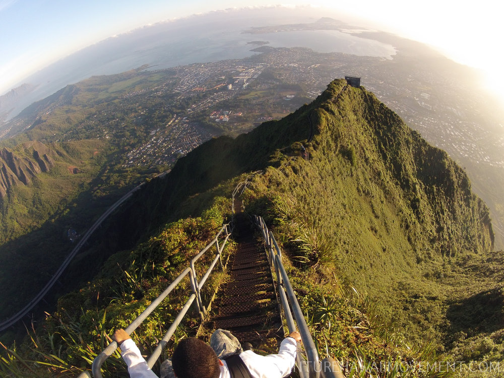 Haiku Stairs (Stairway To Heaven) - Haiku Stairs (Stairway To Heaven) hike on Oahu, Hawai'i.