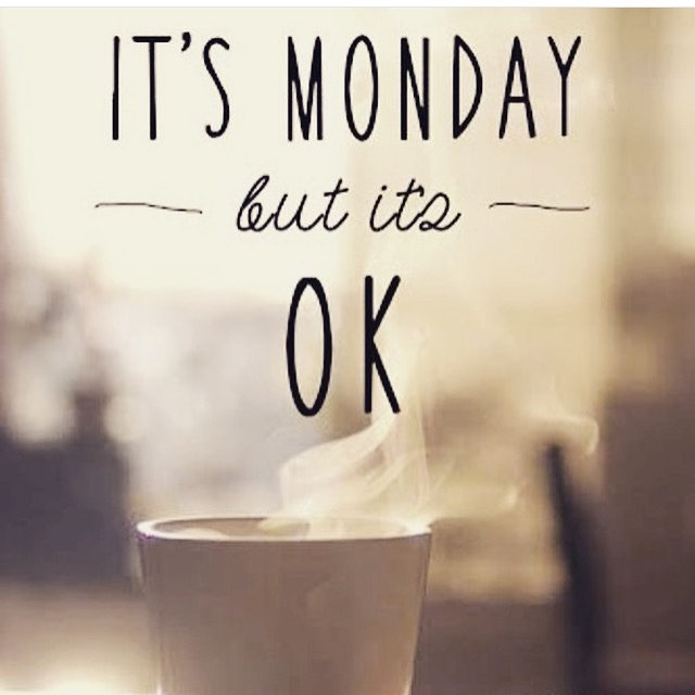 Regram from @christinemwest  Look, if you're reading this you already woke up for Monday and that the hardest part! Yay!