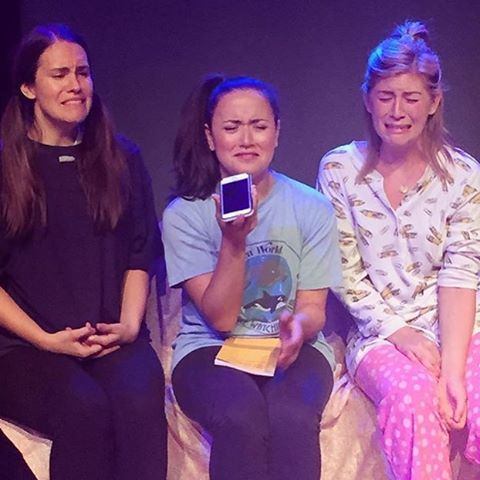 Regram from @bananascalamari , photo by @samklem ! We had THE BEST TIME EVER at our sketch show last night. Thank you SO MUCH to bananas and @austinnewyork for being the best cast ever and to everyone who came out!!!