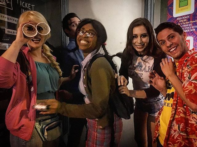 This is the last known photo of five college students who ventured to an abandoned secluded cabin in the woods. Four tragically succumbed to gunshots, demon possession, and evil trees, while one was sucked into a time portal. Thanks for another great weekend, Long Beach! #evildeadthemusical #cabininthewoods #springbreak #kandariandemons #evildead #longbeach