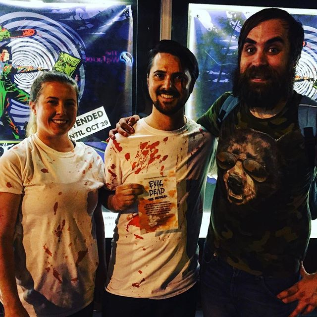 Happy and Bloody Deadites! #evildeadthemusical #evildead2 #horror #theatre #evildead