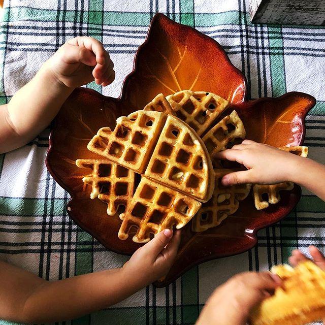 Waffle life. #motherhood 😂😂