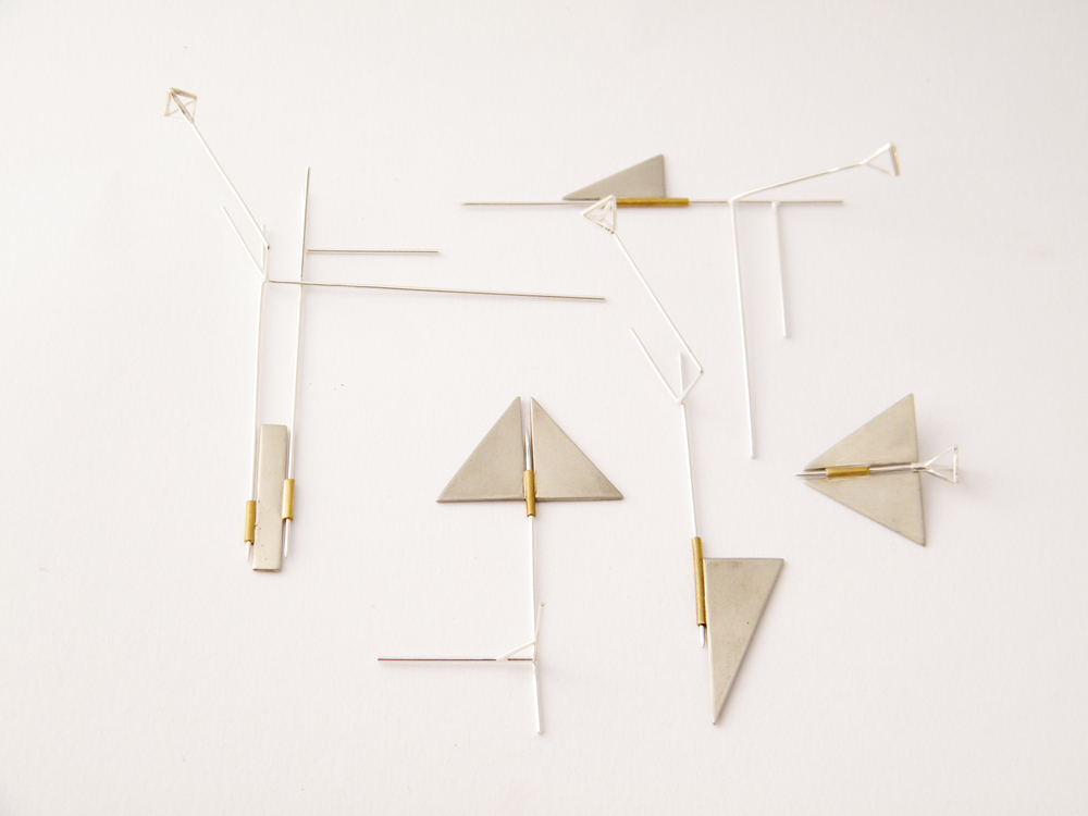 Galit Barak  Brooches  Brass, nickel silver, silver plating   2013