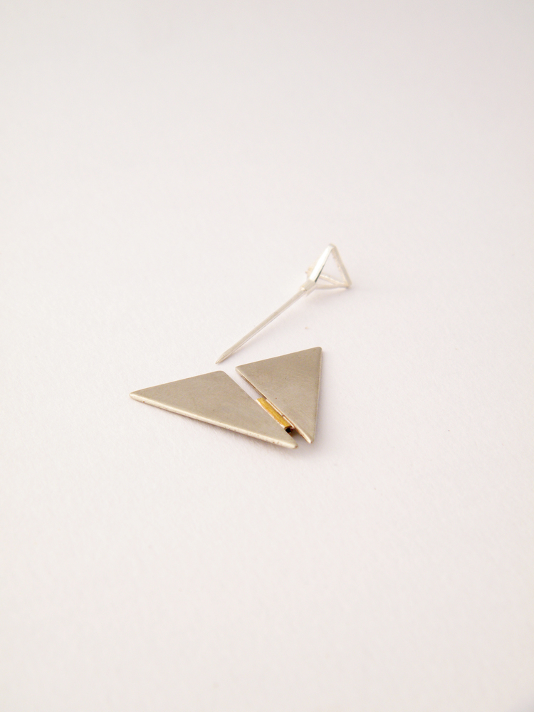 Galit Barak -  Brooch  Brass, nickel silver, silver plating  2013