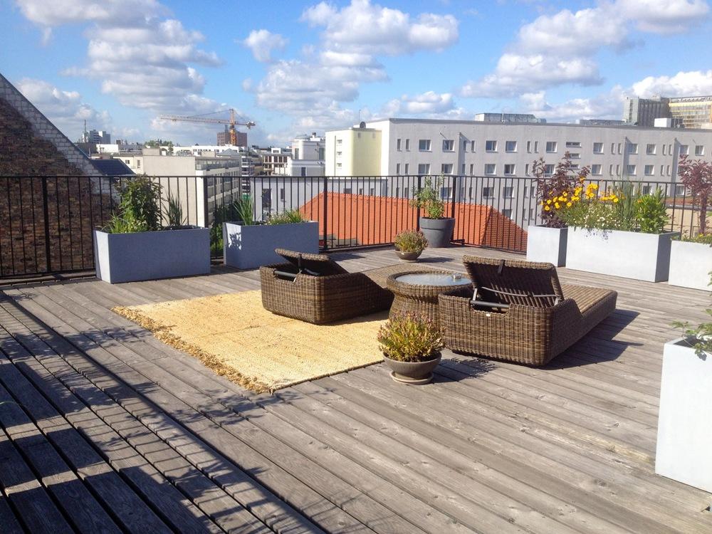 Dachterrasse in Berlin