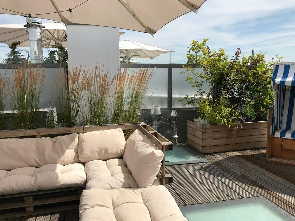Lounge auf Dachterrasse Berlin