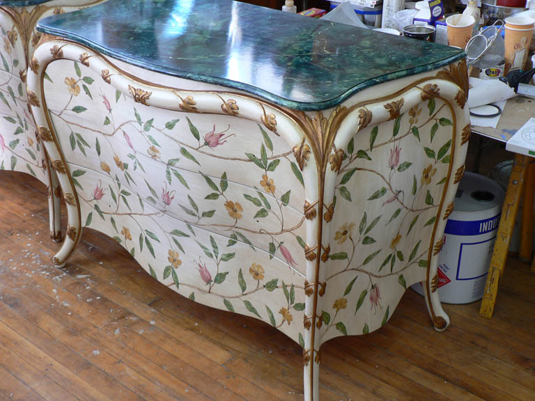 One of a pair of commodes for Charlotte Moss by Victoria & Son