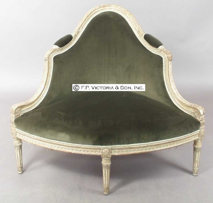 Another corner bergere model in the Louis XVI style