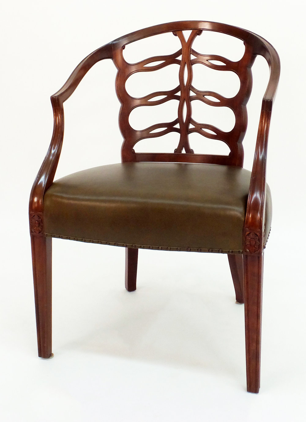 Bon Carved Open Back Chair