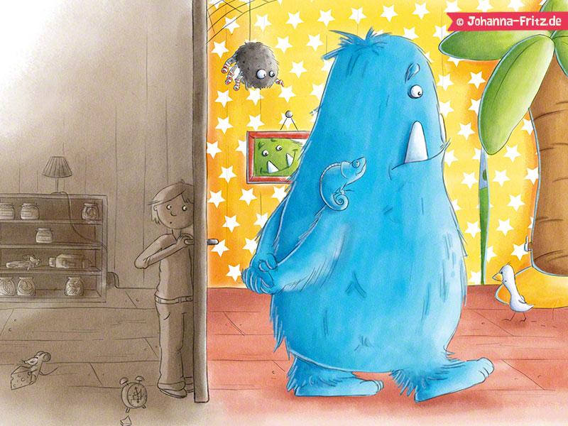 """Children's book """"Mein blaubeerblaues Monster"""""""