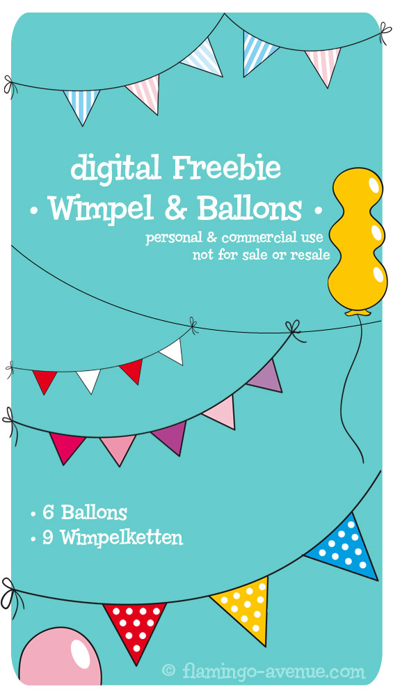 Wimpel & Ballon Freebie