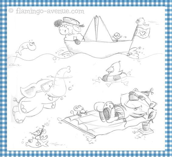 Skizze August fŸr den Familienplaner 2012