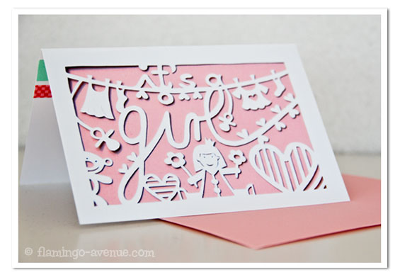 It's a girl papercut