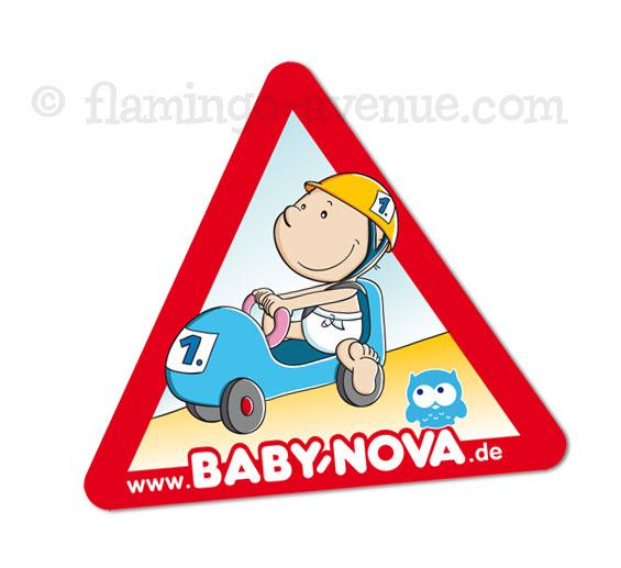 Auto-Baby-Aufkleber