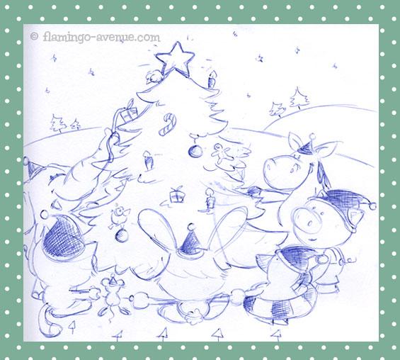 Familienplaner 2012 Dezember-Skizze