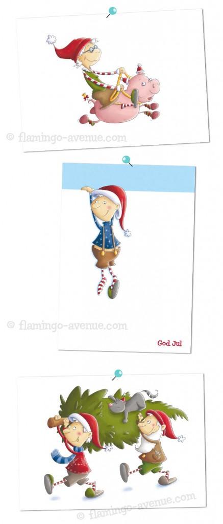 Weihnachtskarten von Joki Papierkram ¨