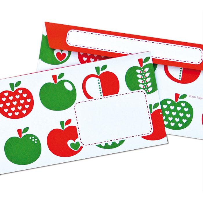 BriefumschlŠge mit Ä€pfeln