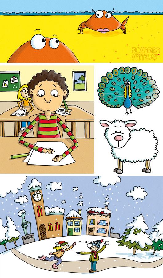 Schulbuch Illustration
