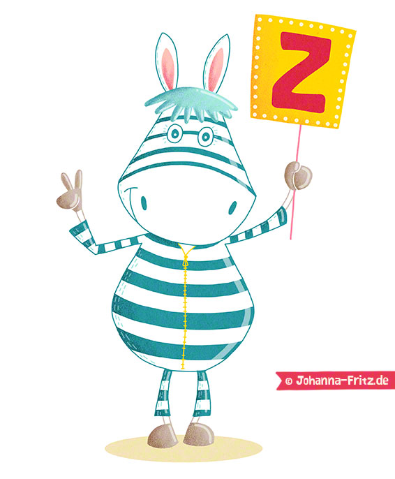 """Z is for Zebra"" by Johanna Fritz"