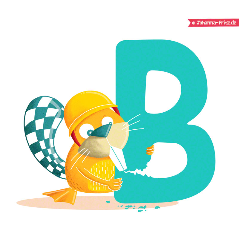 """B is for Beaver"" by Johanna Fritz"