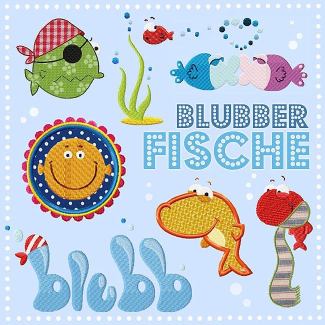 "Embroidery ""Blubberfische"" by Johanna Fritz"