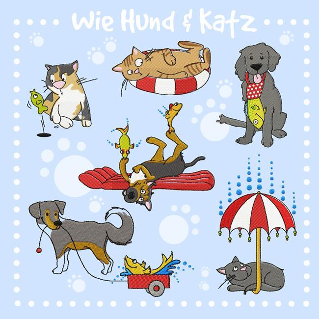 """Embroidery """"Wie Hund & Katz"""" by Johanna Fritz"""