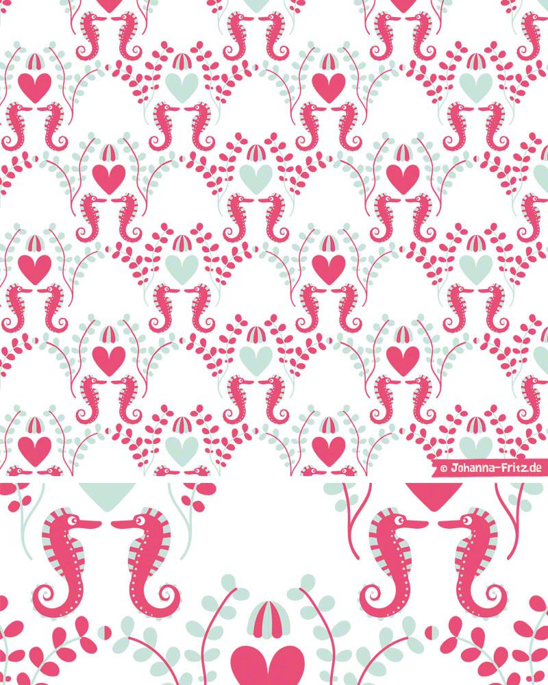 Seahorse pattern by Johanna Fritz