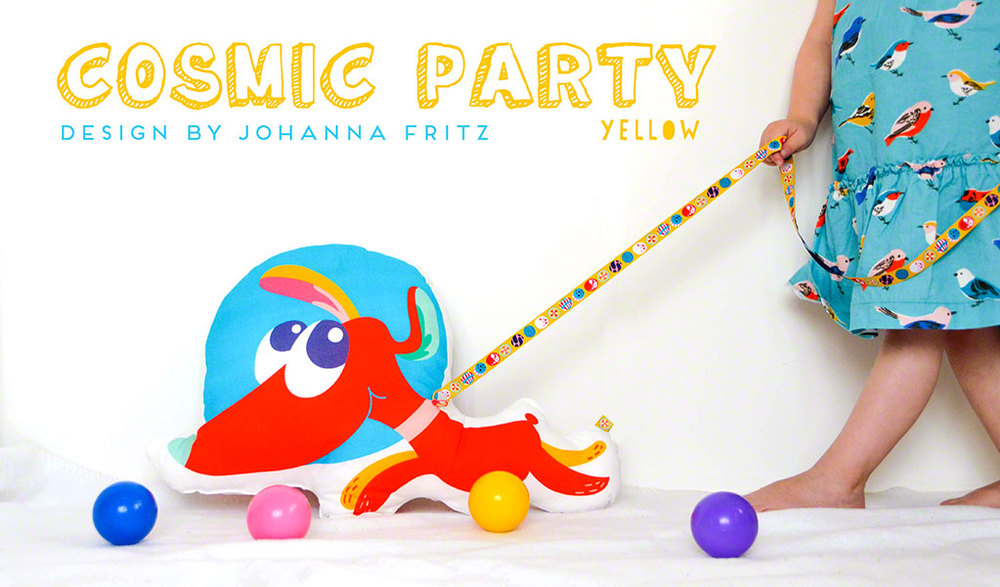 Cosmic Party ribbon. Design by Johanna Fritz