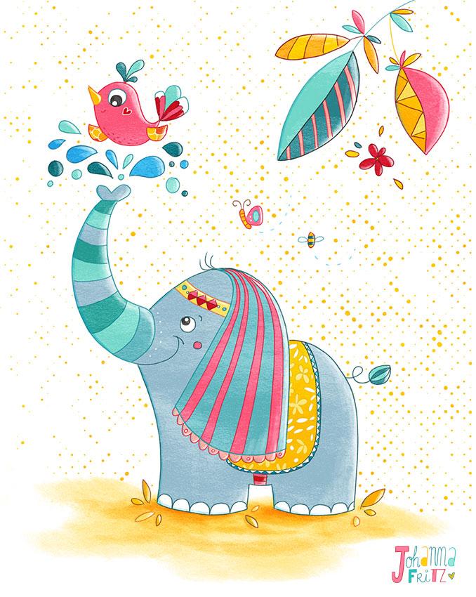 A happy Elephant