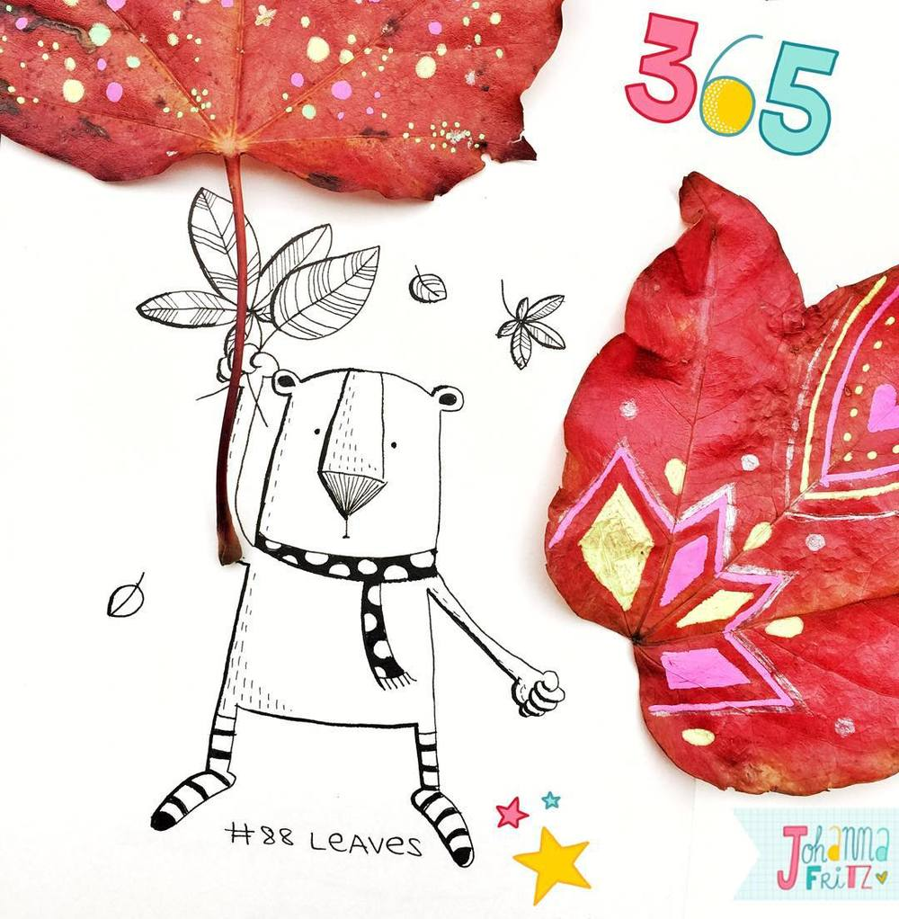 Topic: Leaves- by Johanna Fritz Illustration
