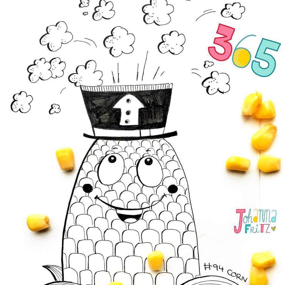 Topic: Corn- by Johanna Fritz Illustration