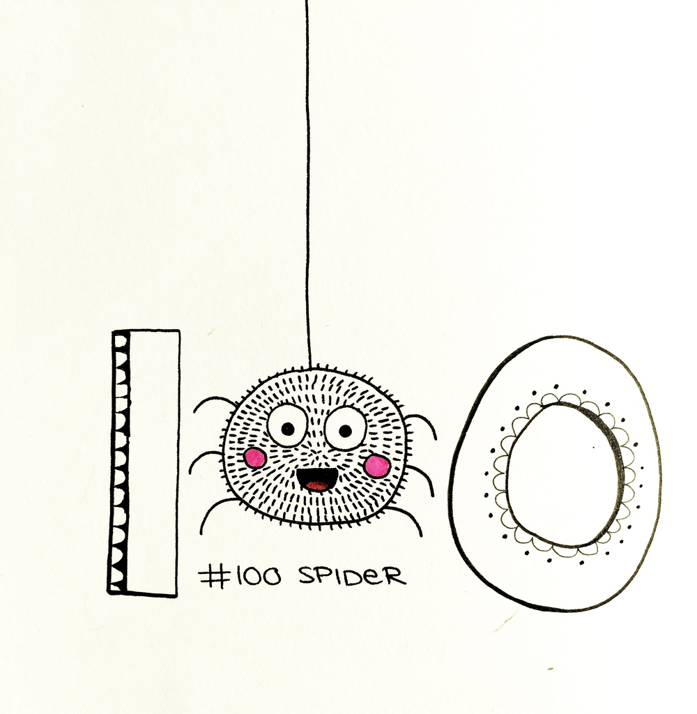 Topic: Spider/ 100 Doodles- by Johanna Fritz Illustration