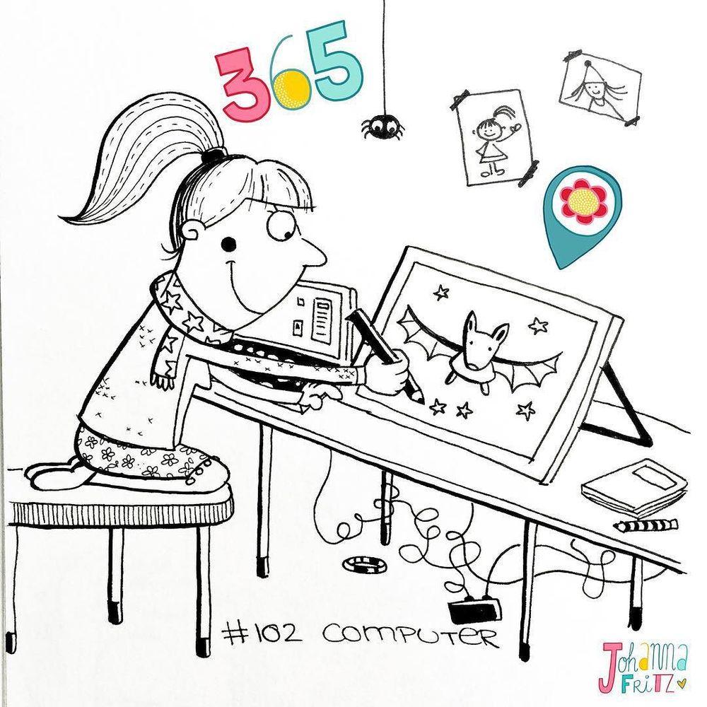 Topic: Computer- by Johanna Fritz Illustration