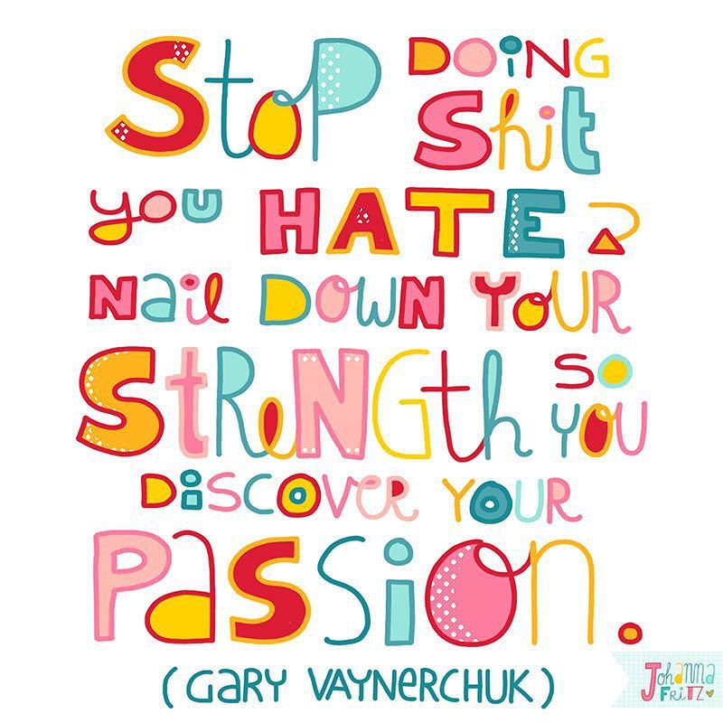 Quote Gary Vaynerchuk- by Johanna Fritz Illustration