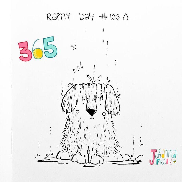 Topic: Rainy day- by Johanna Fritz Illustration