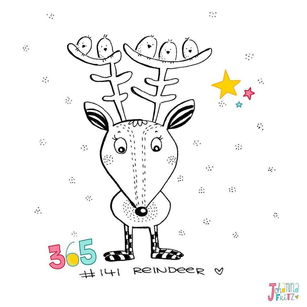 Topic: Reindeer- By Johanna Fritz Illustration