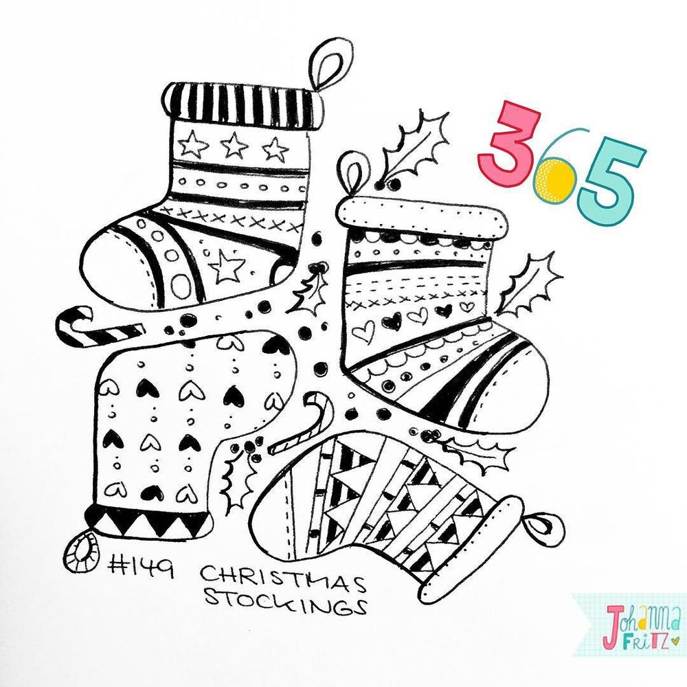 Topic: Christmas stockings- By Johanna Fritz Illustration