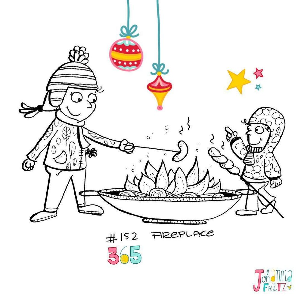 Topic: Fireplace- By Johanna Fritz Illustration