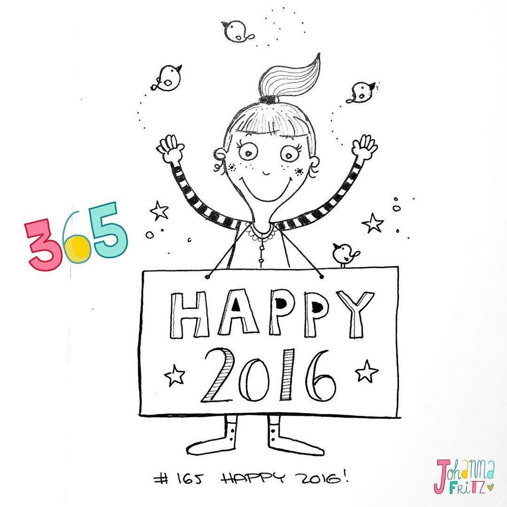 Topic: Happy 2016!- By Johanna Fritz Illustration