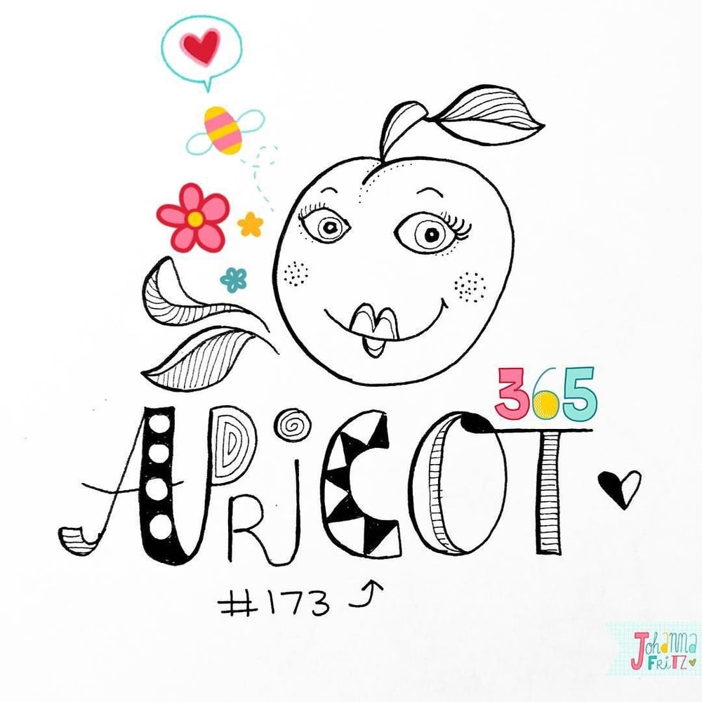 Topic: Apricot- By Johanna Fritz Illustration